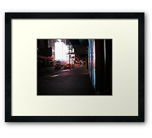 They Say the Neon Lights are Bright on Broadway Framed Print