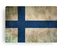 Old and Worn Distressed Vintage Flag of Finland Canvas Print