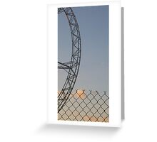 Wheel + Wire, Docklands, Melbourne. Greeting Card