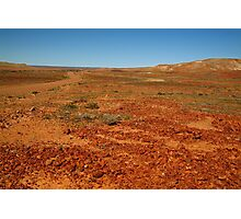 Red Gibber Plain,Oodnadatta Track Photographic Print