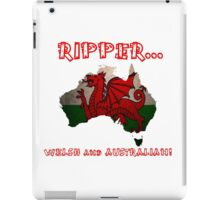 Welsh and Australian - T Shirts, Stickers and Other Gifts iPad Case/Skin