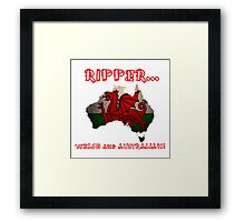 Welsh and Australian - Tshirts, Stickers, Mugs, Bags Framed Print