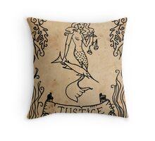Mermaid Tarot: Justice Throw Pillow