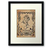 Mermaid Tarot: Justice Framed Print