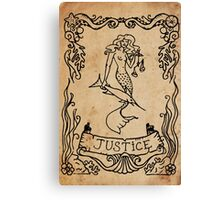 Mermaid Tarot: Justice Canvas Print