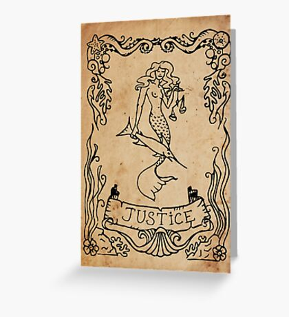 Mermaid Tarot: Justice Greeting Card
