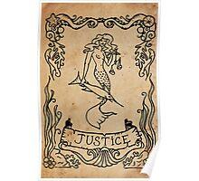 Mermaid Tarot: Justice Poster