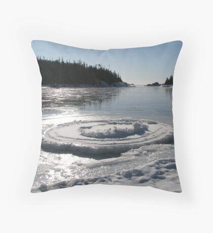 Heron Bay Ontario - Wharf Road - Lake Superior Throw Pillow