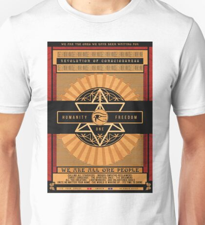 All One People | Unity Consciousness Propaganda Poster Unisex T-Shirt