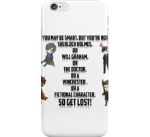 Fictional Character Awesomeness! iPhone Case/Skin