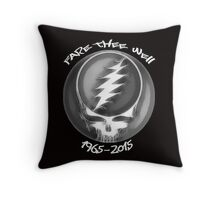 """Grateful Dead """"Fare Thee Well"""" 50th Anniversary Steal Your Face GD50 Throw Pillow"""