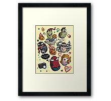 Spidey and Friends Framed Print