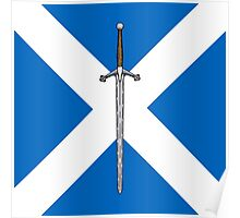 Claymore on Saltire Poster