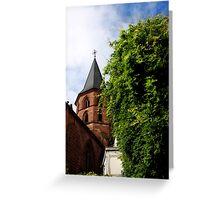 Historical Abbey Church Kaiserslautern Greeting Card