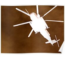 Gunship overhead Poster