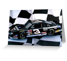 Tribute to my favorite driver..R. I. P. Dale...#3 forever Greeting Card