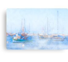 Fog On The Harbor - Old Fisherman's Wharf - Monterey Canvas Print
