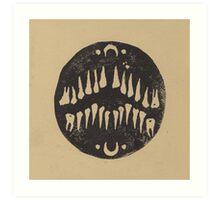 Linoleum Teeth Art Print