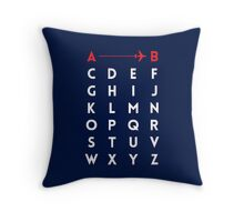 A to B (v2) Throw Pillow