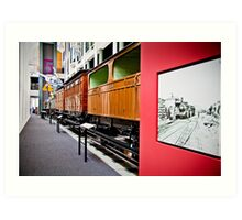 History of Train in Australia Art Print