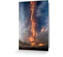 Fire Sword, Mokoia Island. Greeting Card