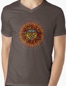 Psychedelic Sun Mens V-Neck T-Shirt