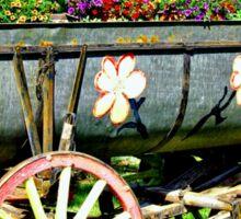Flower Wagon Sticker