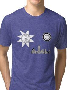 the sun, the city, the moon Tri-blend T-Shirt