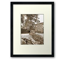 ©MS Tree And Monochrome Rocks IAB. Framed Print