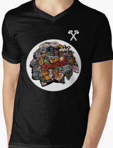 Chicago Blackhawks Logo 3 Mens V-Neck T-Shirt