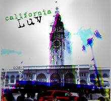 California Luv Clock Tower Pop Art by CherriesAn Pickles
