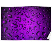 Cool Grainy Purple water drops Poster