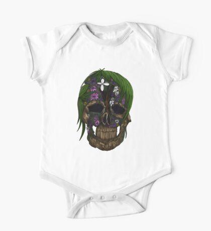 Plant Skull One Piece - Short Sleeve