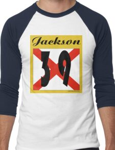ALABAMA:  39 JACKSON COUNTY Men's Baseball ¾ T-Shirt