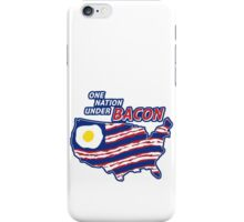 One Nation Under BACON iPhone Case/Skin