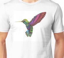 Color Ornate Colibri Unisex T-Shirt