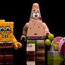 Lego Sponge Bob, Patrick and Gary by Kevin  Poulton - aka 'Sad Old Biker'