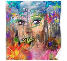 Secret of the Butterfly Beauty (self portrait) Poster