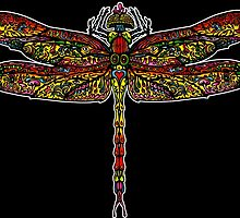 Psychedelic Dragon Fly by David Sanders