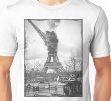 Paris is burning [fade border] Unisex T-Shirt