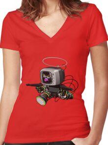ZED HEX v1.0 Women's Fitted V-Neck T-Shirt