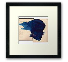 blue profile Framed Print