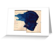 blue profile Greeting Card