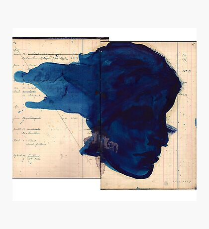 blue profile Photographic Print