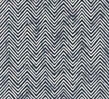 Black and White Zigzag - Chevron Chalkboard by PatternPrint