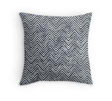 Black and White Chevron Chalkboard Throw Pillow