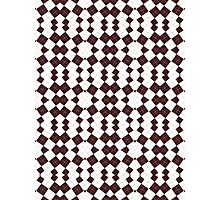 Brown & White Geometric Abstract Design Pattern Photographic Print