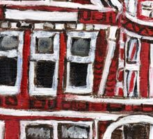 Red Victorian in Pacific Heights(San Francisco) Sticker