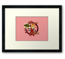 All About That Bass - Red Link Framed Print