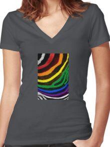 Zebra Pride Women's Fitted V-Neck T-Shirt